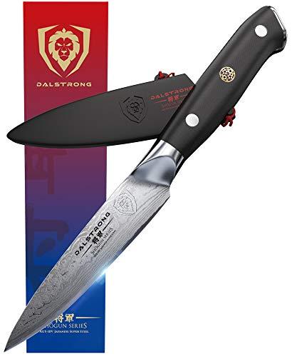 DALSTRONG Utility Knife - Shogun Series Petty - Damascus - Japanese AUS-10V Super Steel - Vacuum Heat Treated - 6