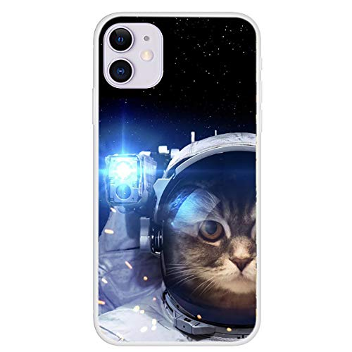 Cloud-s 2 PCS NASA Iphone TPU Astronaute Silicone Cas Couverture Anti-Rayures Protection Anti-Choc Chute pour Iphone 11 Pro/Pro Max iPhone XS,B,IPhone7/8 Plus