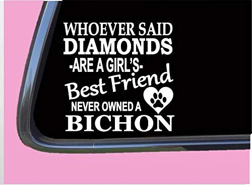 DKISEE Bichon Frisé Diamonds TP 489 Aufkleber 15,2 cm Aufkleber Rettungshund 15,2 cm