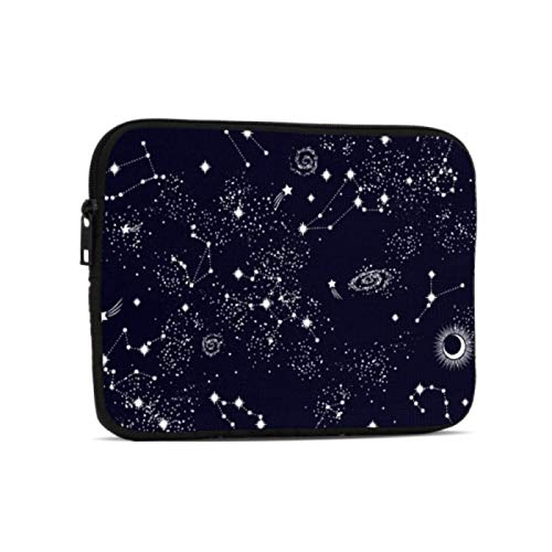 Ipad Mini Accessories All Twelve Zodiac Signs In The Constellation Waterproof Ipad Pouch Compatible With Ipad 7.9/9.7 Inch Shockproof Neoprene Zipper Tablet Protective Bag With Handle Strap