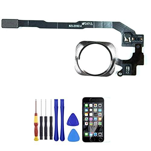 HJTYQS Tecla de reemplazo del botón de Inicio para iPhone 5S / SE con Herramienta de desmontaje + película Protectora templada (Color : White)