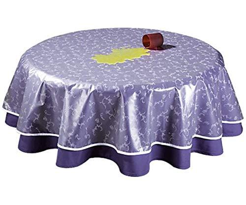 GRASEKAMP Qualität seit 1972 Tischdeckenschoner PVC Folie 130x180cm Oval