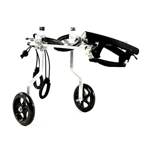 Silla de Ruedas para Perros ajustable Carrito para mascotas silla de ruedas para discapacitados patas traseras perro pequeño gato/perrito/paseo de cachorros, silla ruedas para patas traseras liviana