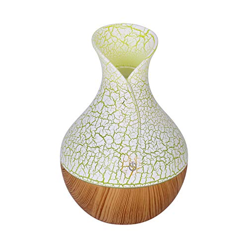 Vtrem Aroma Diffuser 130ml Luftbefeuchter Ultraschall Duftlampe für ätherische Öl, leise elektrische Duftspender mit 7 Farben LED für Yoga Haus Büro