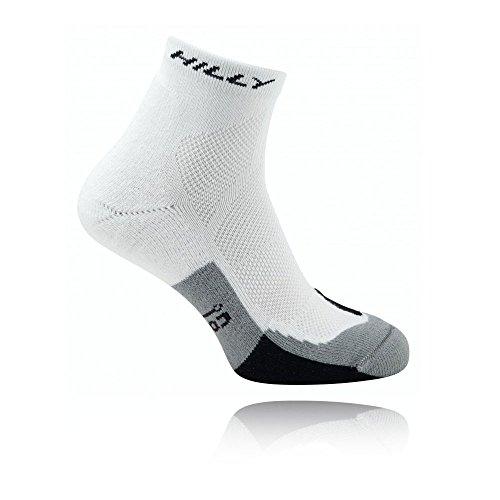 Hilly Men's Cushion Anklet Socks, White/Black/Grey, Medium