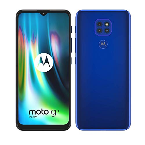 Motorola moto g9 play (tripla fotocamera 48MP, batteria 5000 mAh, display Max Vision 6.5', Octa-core Qualcomm Snapdragon 662, Dual SIM, 4/64GB, Android 10), Electric Blue