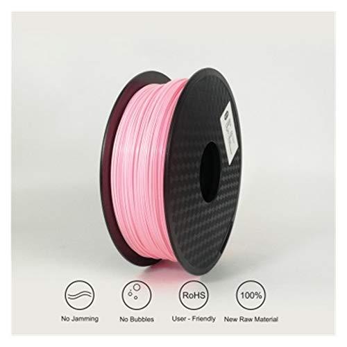 Printing Filament,Printer Filament 3D Printing Filament Flexible Filament Filament Plastic for 3D Printer 1.75mm Printing Materials Gray Black Red Color (Color : Pink)