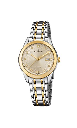 Candino Damen Datum klassisch Quarz Uhr mit Edelstahl Armband C4695/2