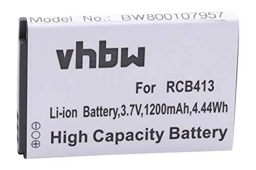 vhbw Akku kompatibel mit Doro Primo 413 Handy Smartphone Handy (1200mAh, 3,7V, Li-Ion)