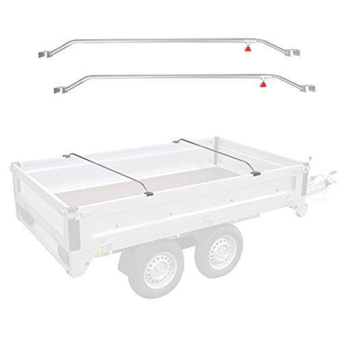 APT 2X Anhänger Flachplanenbügel Aluminium verstellbar 108-146 cm Knaufschraube