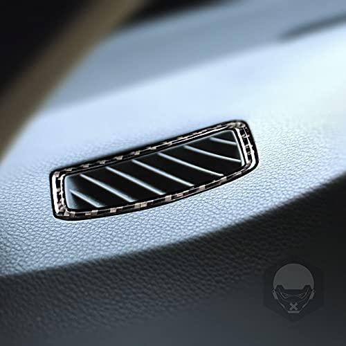 Para BMW M3 E92 2007-2013 kit aire acondicionado salida ventilación marco panel fibra carbono real interior desniebla rejilla accesorios (LHD)