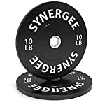 Synergee Bumper Plates Weight Plates Strength Conditioning Workouts Weightlifting – Sold in Pairs and Sets