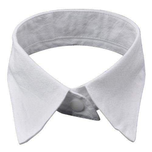 TRIXES Moderner Bubikragen in Weiß für Damen, abnehmbarer Kragen mit Schlaufe - für Karneval