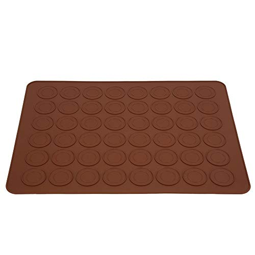 48 agujeros de silicona Macaron Cake Pad Bandeja para hornear Horno - Antiadherente y lavavajillas Bandejas de silicona para hornear - Hogar Cocina Bandejas y moldes de goma