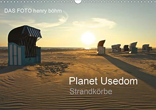Planet Usedom Strandkörbe (Wandkalender 2021 DIN A3 quer)