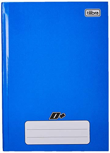Tilibra D+, 116661 - Caderno Brochura Capa Dura, 48 Folhas, Tamanho 1/4 (14x20 cm), Azul, Pautado, 1 Matéria