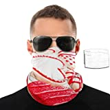 Sweets Heart Chocolate Decorated Face Mask Bandanas for Men Women with PM2.5 Filter Ear Loop Neck Gaiter Headwear Tube UV Protection Headband Face Cover for Sports, Outdoors