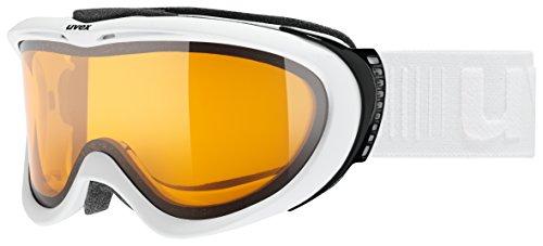 uvex Unisex's Volwassene, Comanche LGL skibril, wit, één maat