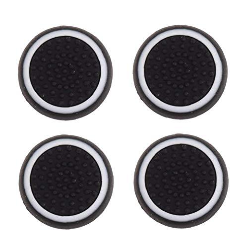 Odoukey 4pcs tapón de Silicona reemplazo para / / Palanca de Mando Pulgar Cubierta Agarre - Blanco y Negro