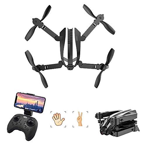 HUAXM Pliant Mini-Drone, avec 1080P caméra pour Les débutants, avec Connexion Wi-FI Batteries Double, Maintien d'altitude, Anti-Collision RC Toy Drones pour Enfants et Adultes,Gris