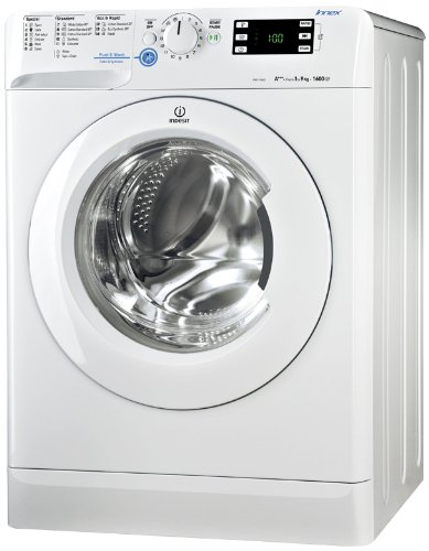 Indesit XWE 91683X WWWG Freestanding Front-load 9kg 1600RPM A+++ White Washing Machine (Freestanding, Front Load, White, Left, White, 62L)
