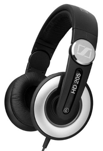 Sennheiser HD 205 II Cuffie stereo  tradizionali chiuse per DJ, Nero