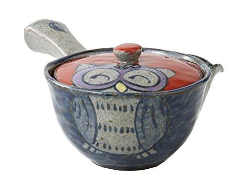 Saikai Pottery 83969 tetera de búho hecha a mano (tetera japonesa Kyusu) de Japón