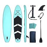 CDPC Tabla de Remo Inflable, Tabla de Remo de Yoga acuático, Remo de Aluminio Ajustable, Bomba, Correa, Aleta extraíble