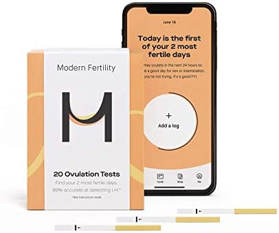 Modern Fertility Ovulation Kit 20 Ovulation Test Strips in Each Ovulation Predictor Kit Free product image