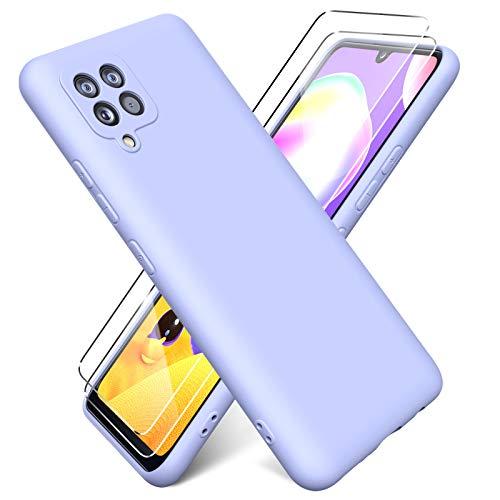 Oududianzi - Funda para Samsung Galaxy A42 5G con 2 Pack Protector...