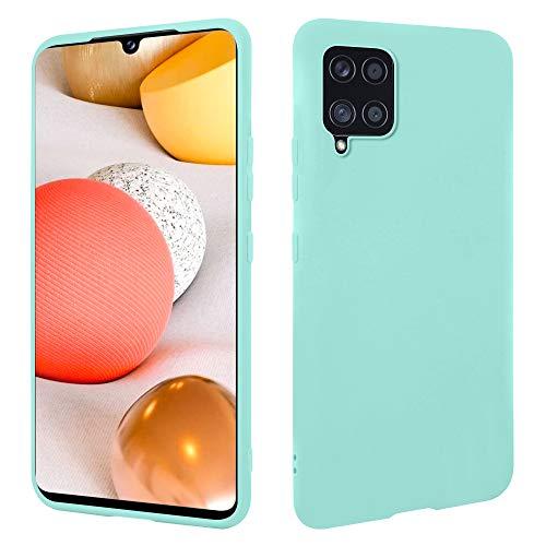 HSP Türkise Hülle kompatibel mit Samsung Galaxy A42 5G | Premium TPU Silikon Hülle | Kratzfest Stoßfest | Matte Oberfläche | Passexakte, weiche, Ultra dünne Schutzhülle