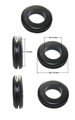 Durchgangstüllen Kabeldurchführung Kabeldurchlass 10mm schwarz 5 Stück (0154)
