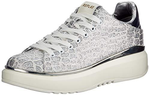 REPLAY Nacht Zapatillas para Mujer,Blanco ( 061 Blanco ) , 40 EU