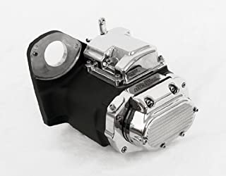 6-Speed Black and Chrome Transmission for Harley-Davidson Softail