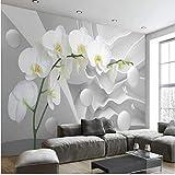 3D Geschichteten Raum Phalaenopsis Hintergrund Mural Tapeten Hintergrund Malerei Wohnzimmer...