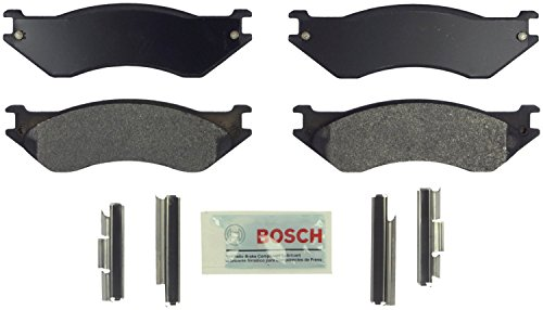 Bosch BE758H Blue Disc Brake Pad Set with Hardware for Select Full-Size 1998-2002 Dodge Trucks and Vans - FRONT