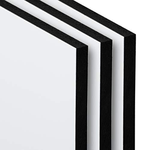 Aluverbundplatte 3-6 mm Aluminium Verbund Platte Weiß Zuschnitt Materialstärke und Größe Wählbar (6mm, 300 x 300 mm)