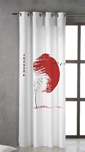 TSUKI Hinata Cortina confeccionada con Ojales metálicos 150 x 260 Zen, Chillout, Japonesa