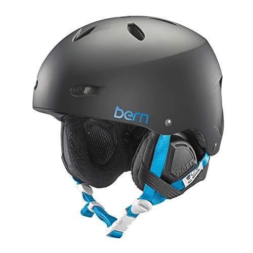 Bern Damen Ski/Snowboardhelm Brighton Women'dünne Schale Winter Boa Liner Helm, Matt Schwarz, M/L