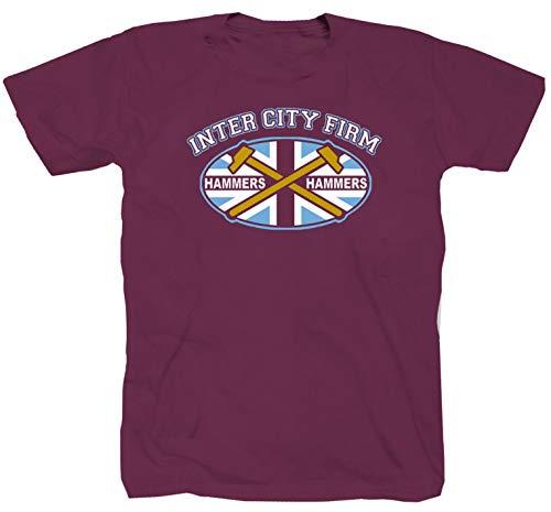 London Ultra ICF Casual Firm Fussball Gruppe Ultras Hammers Burgundy T-Shirt Shirt M