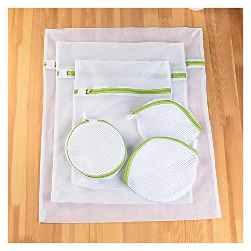 SSN 6 Größen/Set Reißverschluss Faltbare Nylon Wäschesack BH Socken Unterwäsche Kleidung Waschmaschine Schutz Netz-Ineinander Greifen Taschen