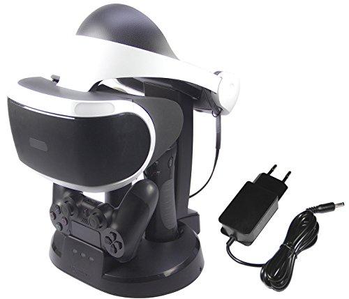 Amazon Basics - Ladestation und Ständer für die PlayStation VR, Schwarz (Funktioniert nur mit dem alten Modell PS move motion controller)