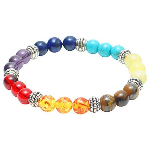 Brazalete de cristales Jewel Zen para curación de los 7 chakras, para reiki, para hombres y mujeres