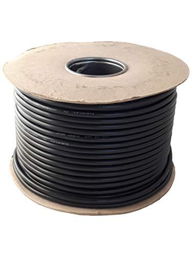 Cable flexible redondo negro de 2 y 3 núcleos de 0,75 mm, 1,0 mm, 1,5 mm 3182Y 3183Y rollo completo y longitudes personalizadas disponibles