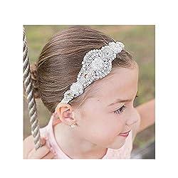Flower Gilr Silver Crystal Rhinestones Headband