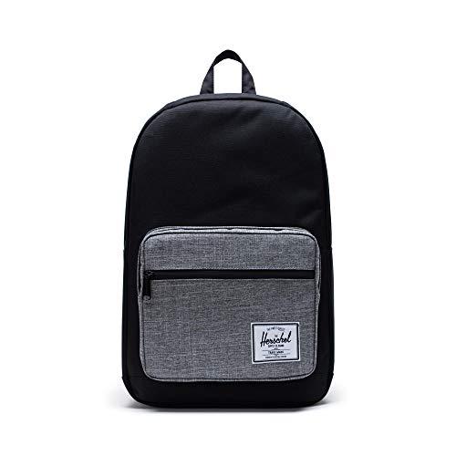 Herschel Pop Quiz Backpack, Black/Raven Crosshatch, Classic 22L