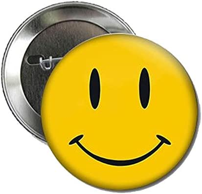 Popular TradeZ Smiley Max 60% OFF Face Button Pin 1.25-Inc Badge Max 40% OFF Comedian's