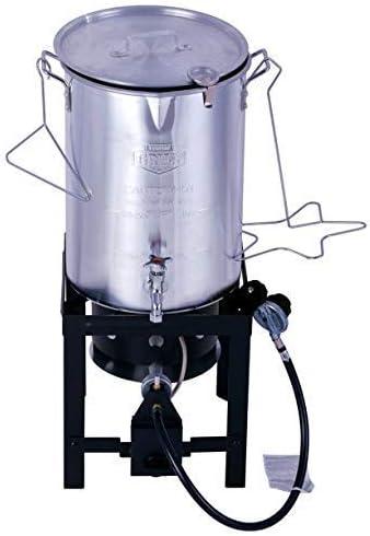IM RIZKI Grill 30 Quart Propane Gas Turkey Fryer with Spigot