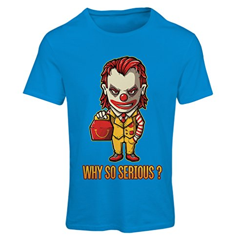 lepni.me N4443F Camiseta Mujer Why So Serious? (XX-Large Azul Multicolor)