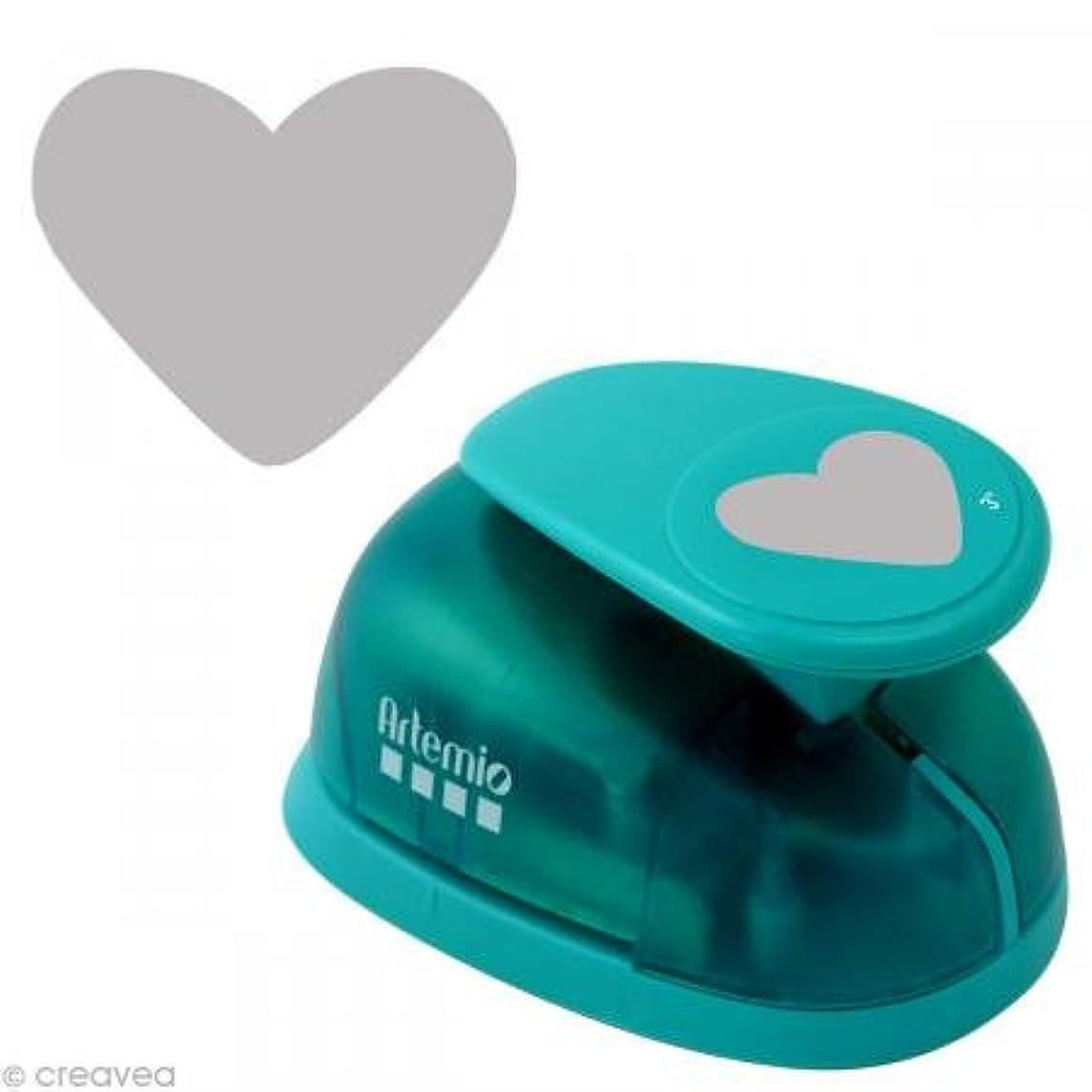 Artemio Heart Hole Punch?–?Jumbo, Plastic, Multicoloured, 14?x 9?x 23?cm